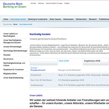 Deutsche Bank CSR